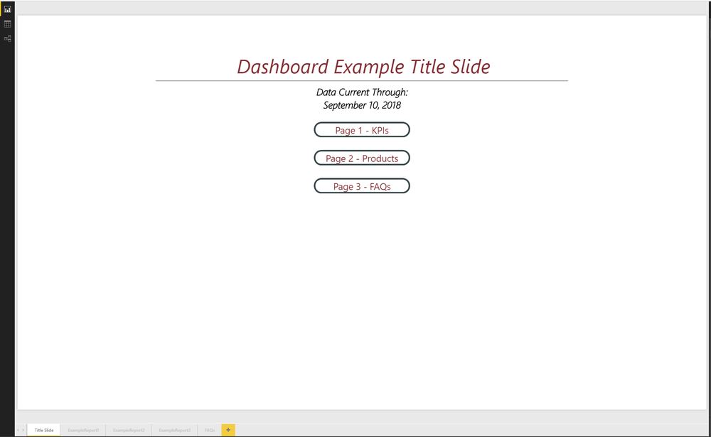 Very minimal example of a Title Slide. Insert company logos, images, or other items.