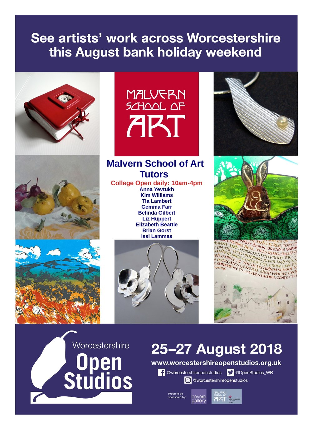 Do come and see us at Malvern Hills College, Albert Road North, Malvern, WR14 2YH over the Bank Holiday weekend. I hope to be demonstrating charcoal drawing.