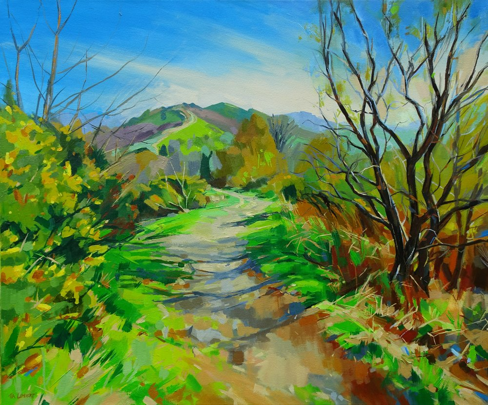 'Ridgeway Walk' OIL 75cmx90cm New on display at the Ledbury Gallery