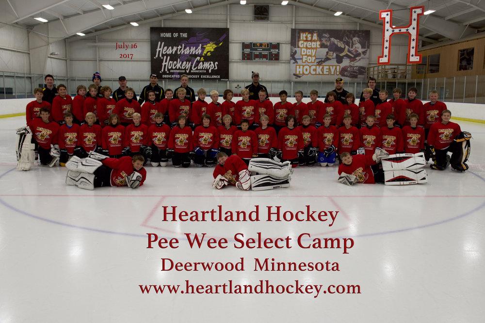 Peewee Select July 16-22, 2017