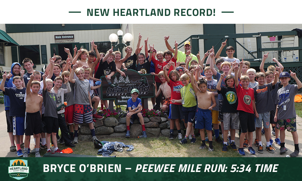 Peewee Mile Run Record