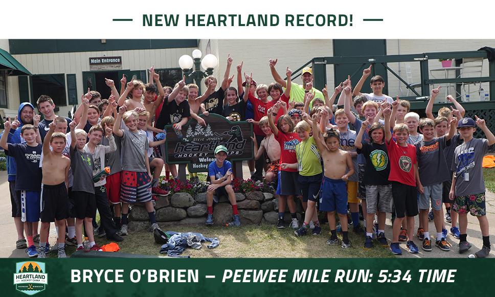 Peewee Mile Run Record