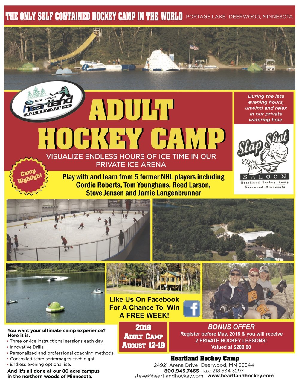 Adult Camp Hockey flyer