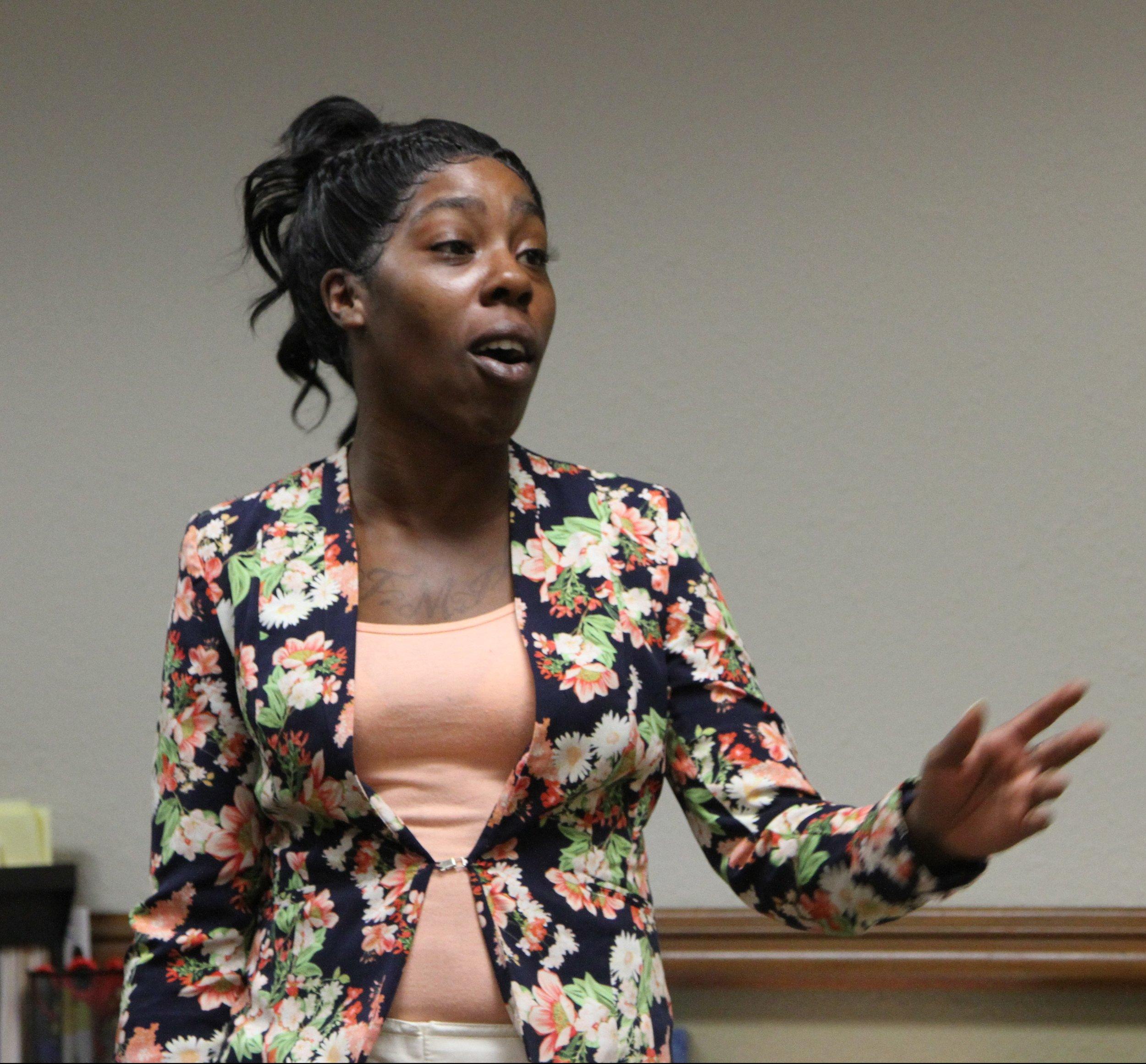 Speaking at graduation