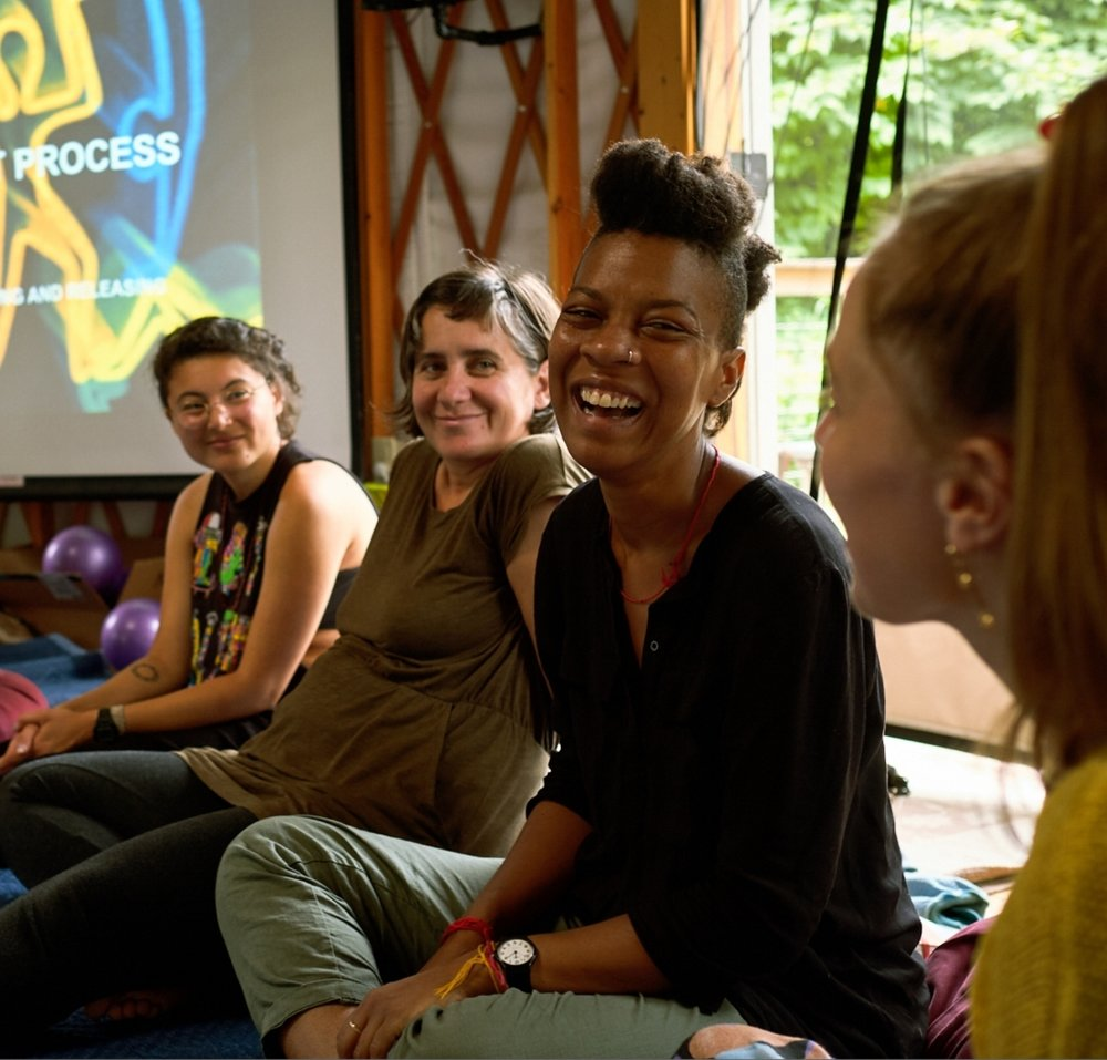 In our programs... - we dive together into unveiling the cultural forces that create separation from our own emotions, from the environment, and between communities and diverse cultures, leading to systems of oppression and the climate collapse we face today. These are the same forces that generate undermining attitudes and habits of competition, isolation and suspicion that can derail organizing efforts, break apart relationships, and fracture organizations and movements.We use relational practices to intentionally reclaim our interdependence, engaging in supportive, radically inclusive ways, without shying away from the challenges of diversity, power, and trauma.The relational culture series presents a nuanced approach to issues of identity, intersectionality, and privilege using an embodied, relational practice of narrative and somatic movement. Participants learn to facilitate relational practices and bring relational culture to their organizations and communities, as well as join a growing community of practice with changemakers committed to shifting culture.