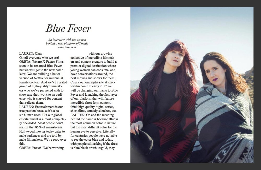 Liner Magazine Features Blue Fever