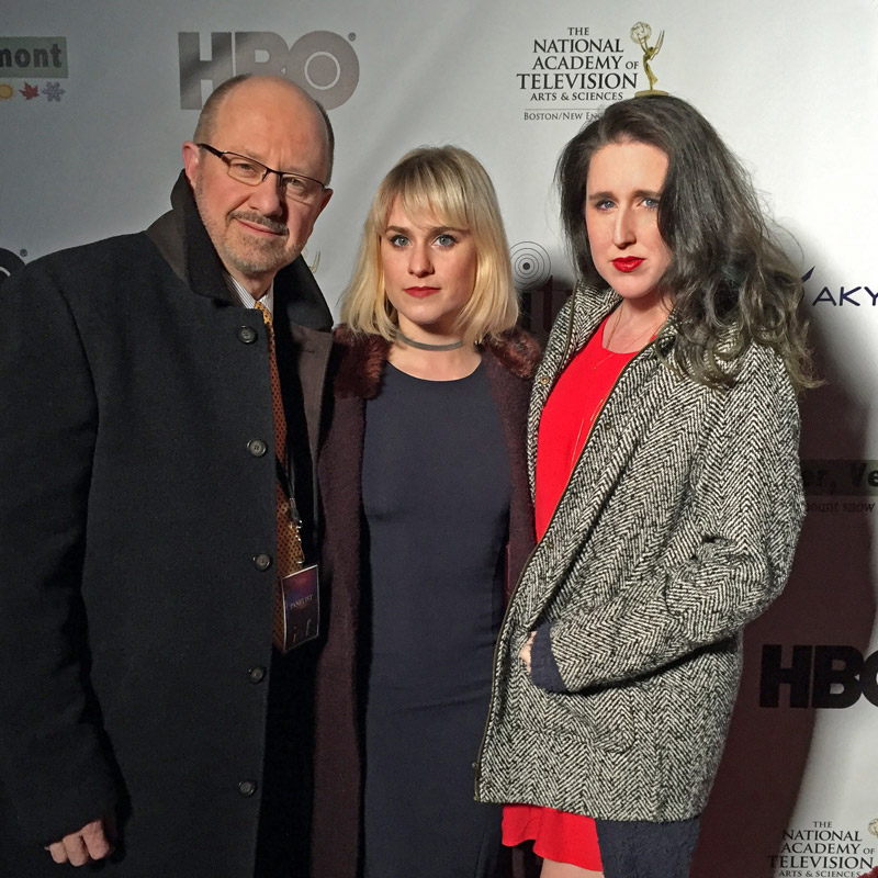 Founders Rick Tracy, Lauren Tracy and Greta McAnany muggin' it on the red carpet.