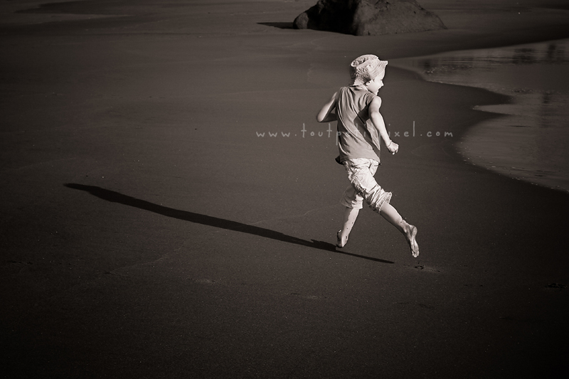 photographe enfant à la plage
