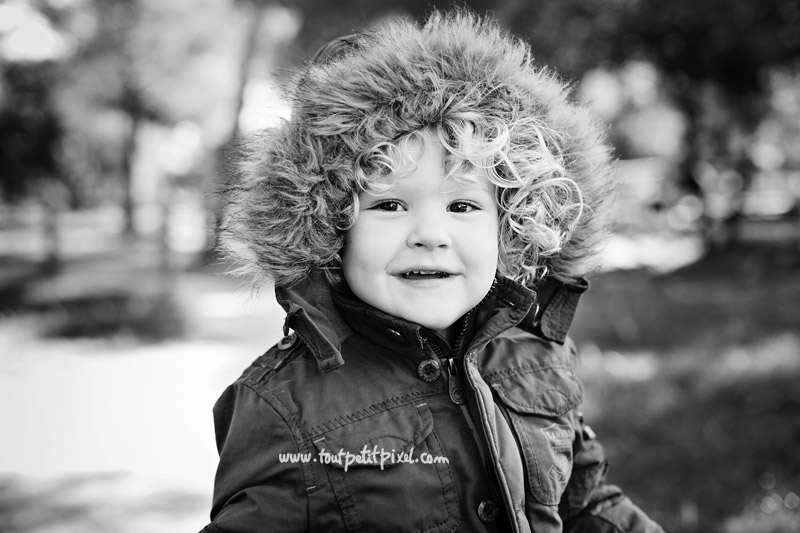 portrait d'enfant en hiver