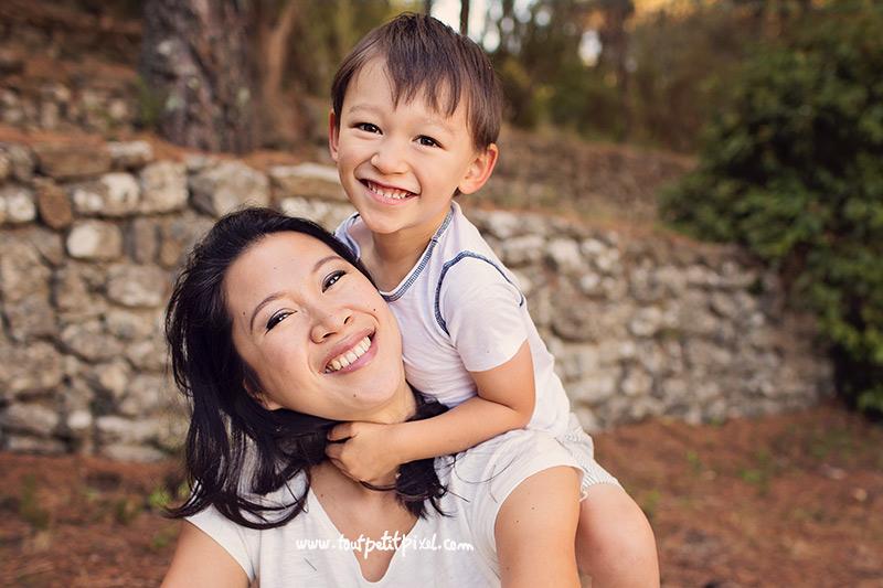 portrait mère enfant sourire