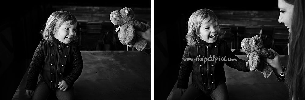 petite fille et son doudou