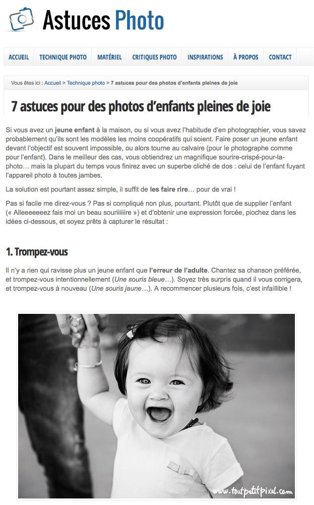Astuces Photo - Enfants - Tout Petit Pixel