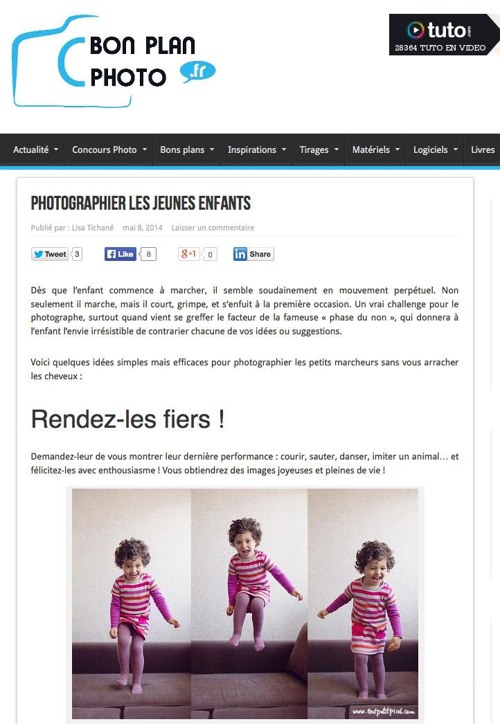 Photographier les jeunes enfants | Bon Plan Photo
