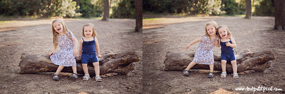 photos de soeurs au parc