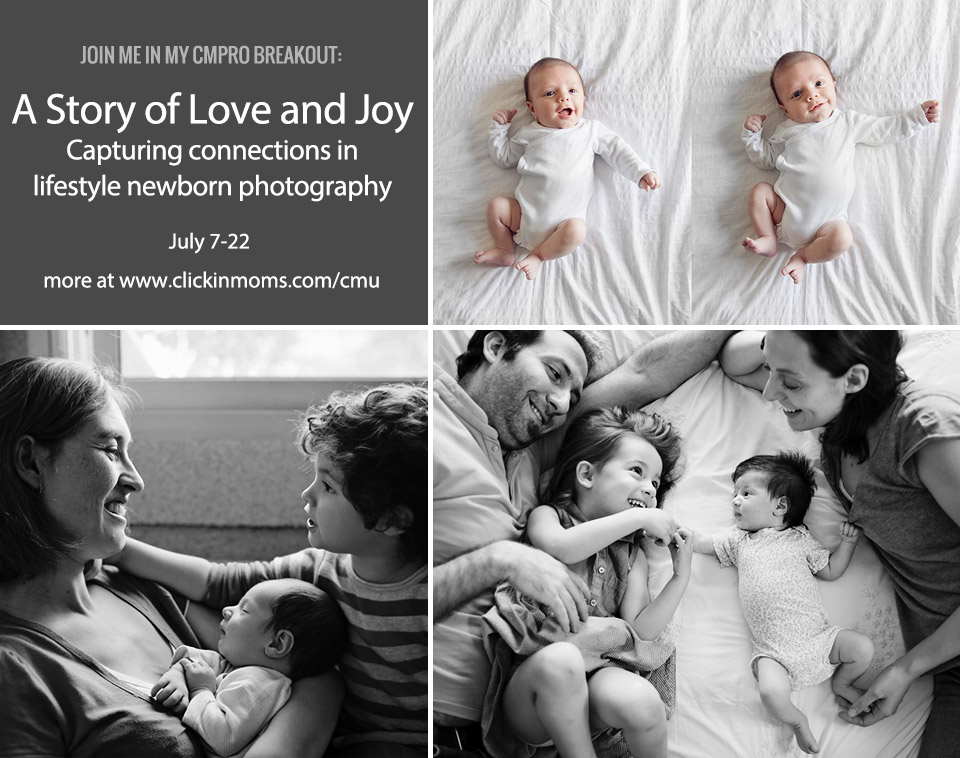 Lifestyle newborn photography - breakout session