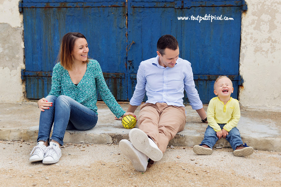 photo famille enfant rire