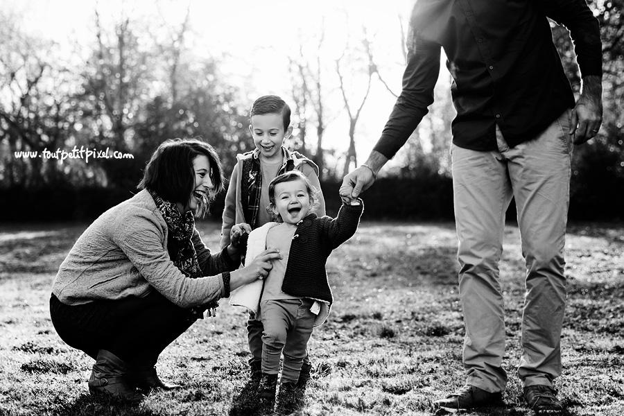photo de famille rire