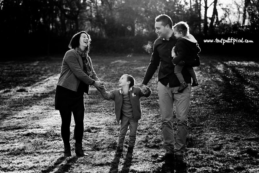 portrait de famille joie
