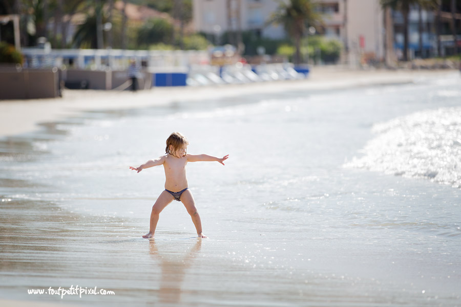 photo enfant plage