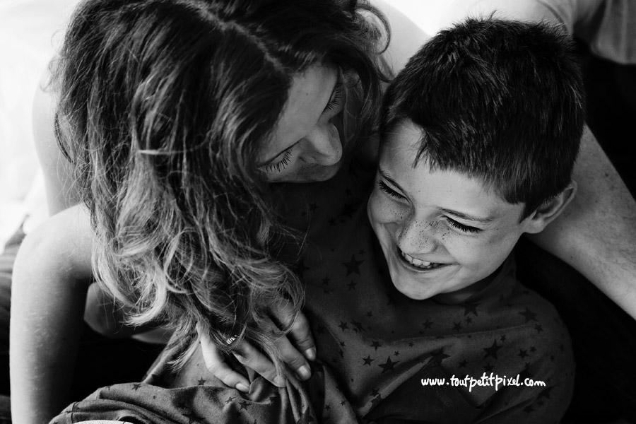 maman enfant rire