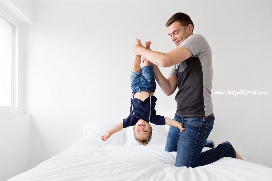 photo d'enfant en famille
