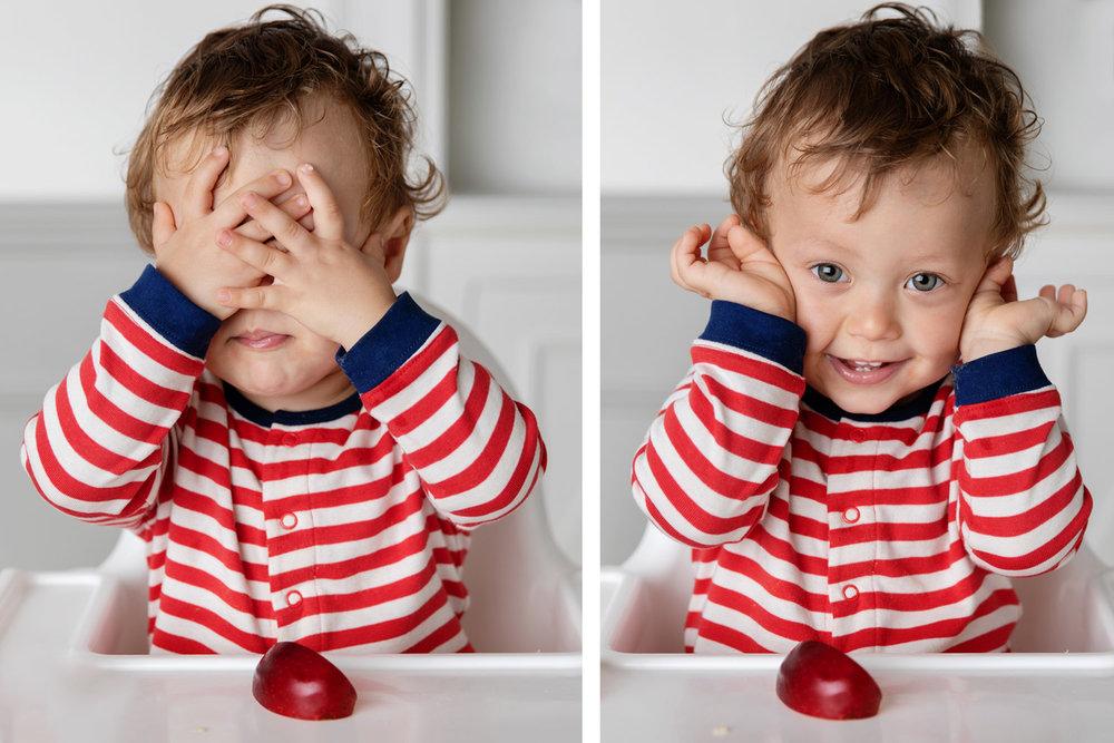 Bébé qui joue à coucou caché par Tout Petit Pixel photographe lifestyle bébé à Marseille