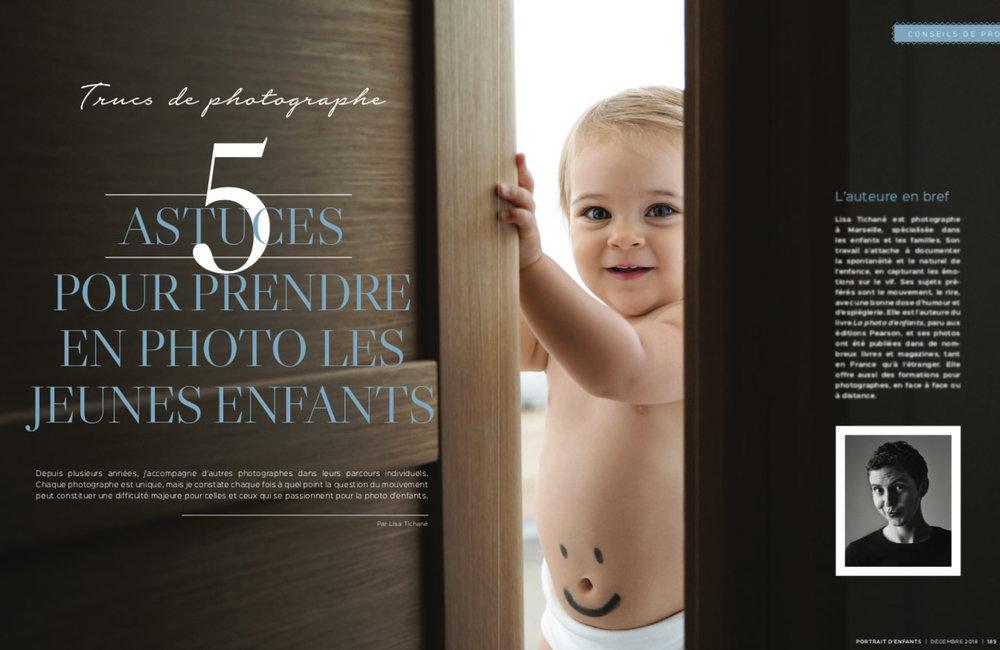 Astuces pour prendre en photo les jeunes enfants par Lisa Tichané pour le magazine Portrait d'Enfants