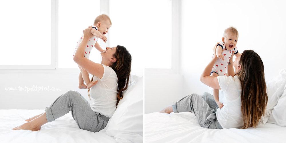Photos maman et bébé lifestyle par Tout Petit Pixel, photographe bébé à Marseille