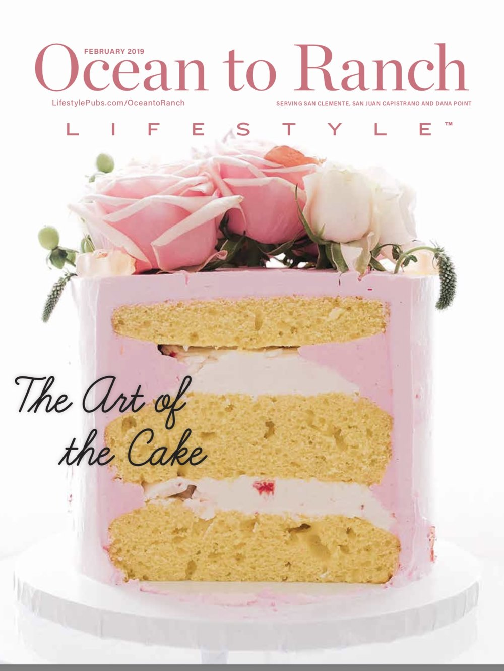 Confectious Pastry Shop Cake on Ocean to Ranch Magazine Cover