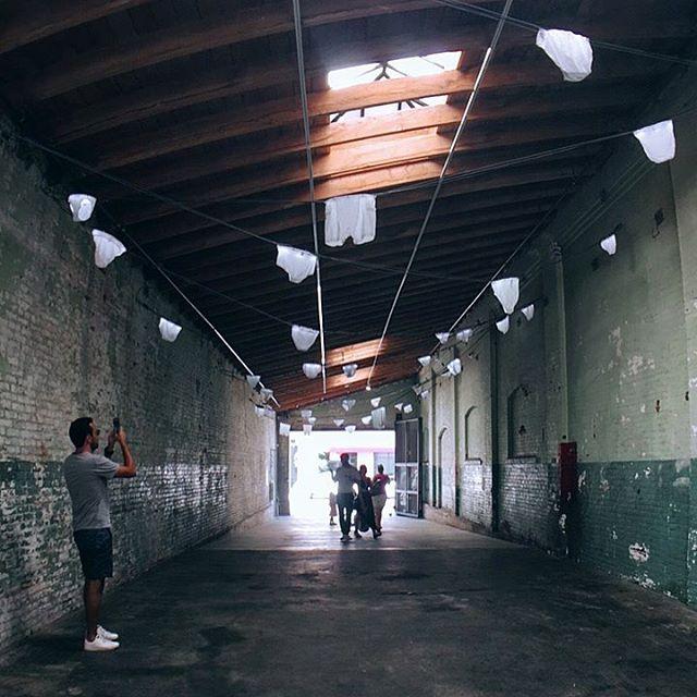 Flying underwear. 👖 #antisocialla #losangeles #downtownla #dtla #artsdistrictla #artsdistrict