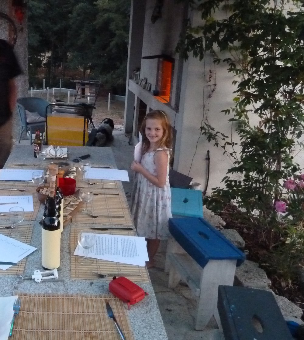 My ever faithful helper Lola giving out the record sheets and pencils