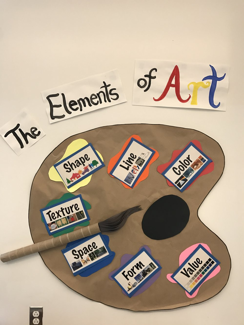Our elements of art chart.