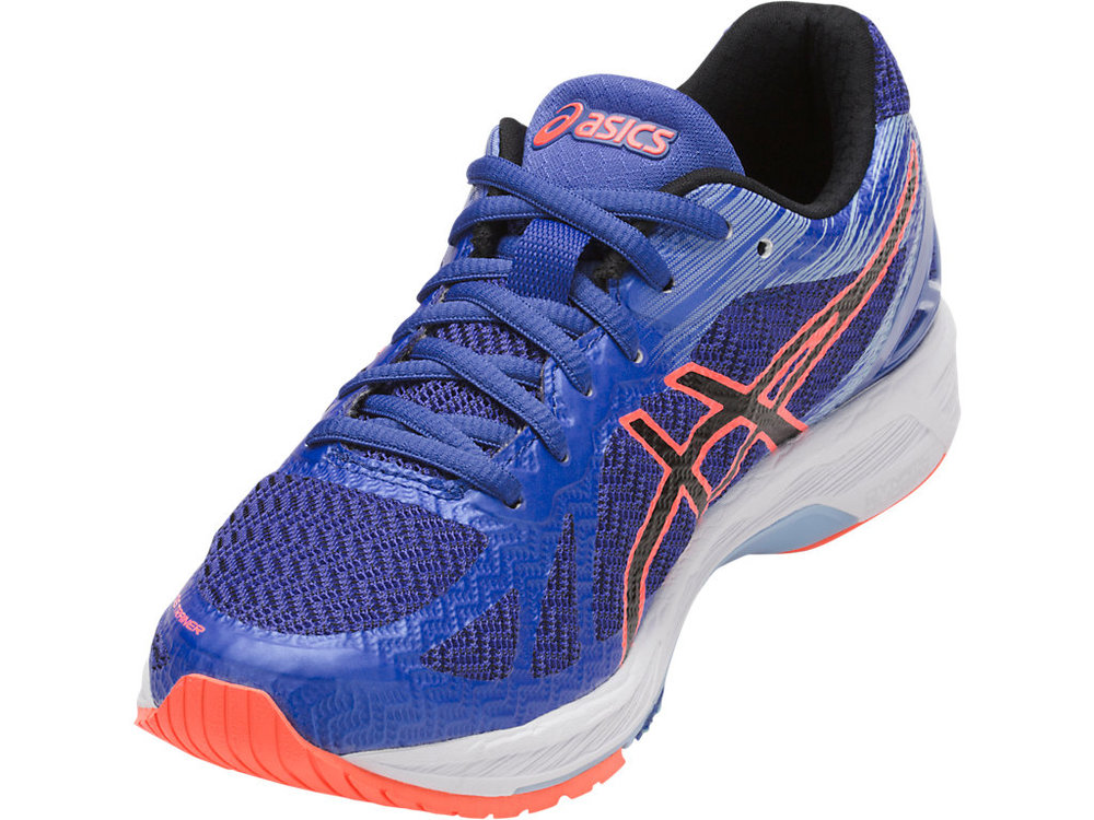 """2010-2011 Less cushioned shoe from Asic's """"fast running"""" series. Cause the speed is in the shoe right?A little less heel drop, maybe 8mm?"""