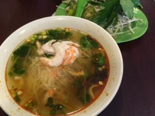 After church on Sunday, I enjoyed shrimp pho with a friend at a hole-in-the-wall restaurant in Columbia Heights.