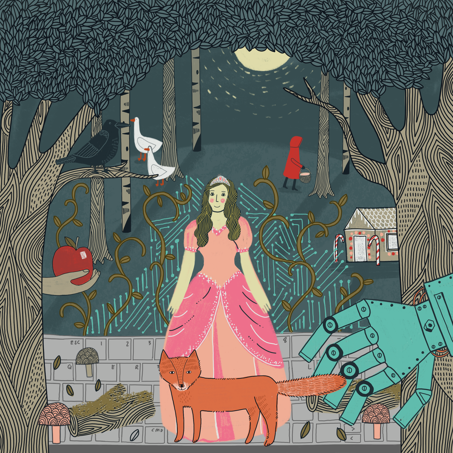 Lost' Grimm fairy tale is first AI bedtime story — Calm Blog