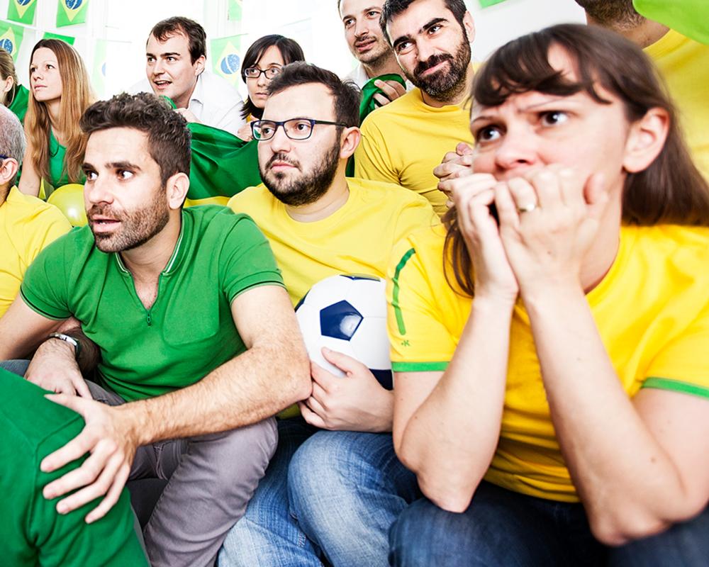 Nervous Football Fans