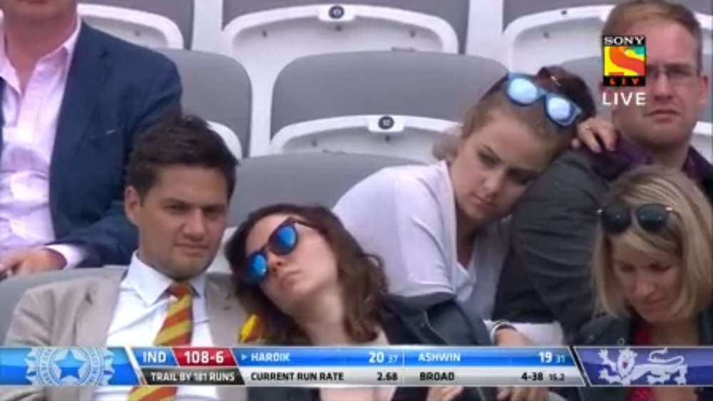 Sleeping Cricket Fans