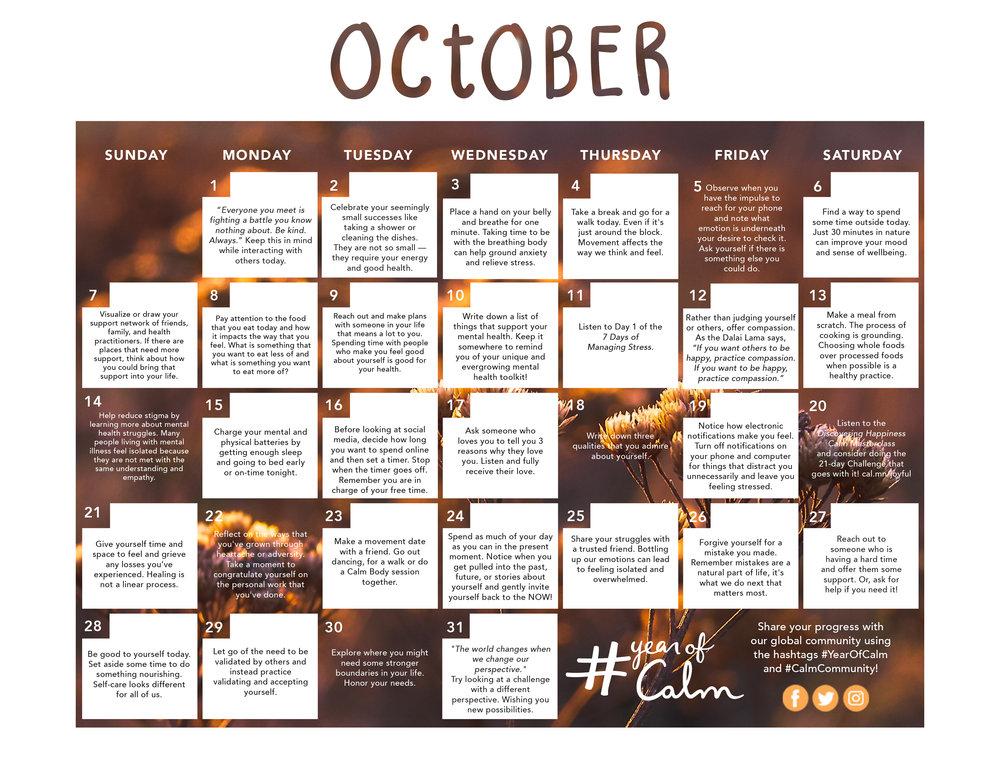 October Mindful Living Calendar (Printable).jpg