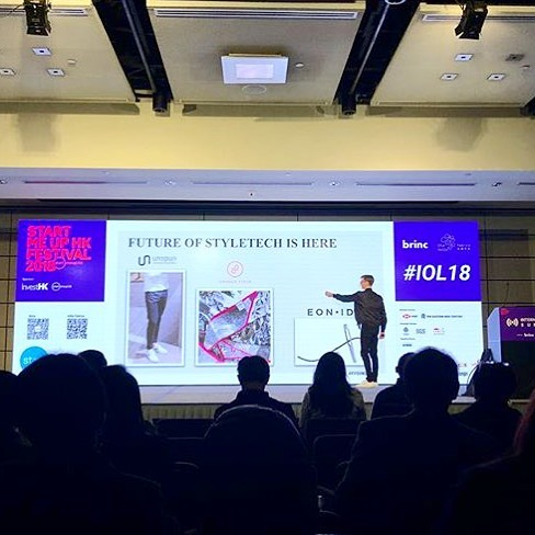 Sharing @themillsfabrica's post of the illustrious Erik Bang from H&M Foundation, showing off unspun's work as the Future of Styletech at #StartMeUpHK... and make sure to check out our popup spot if you are there!