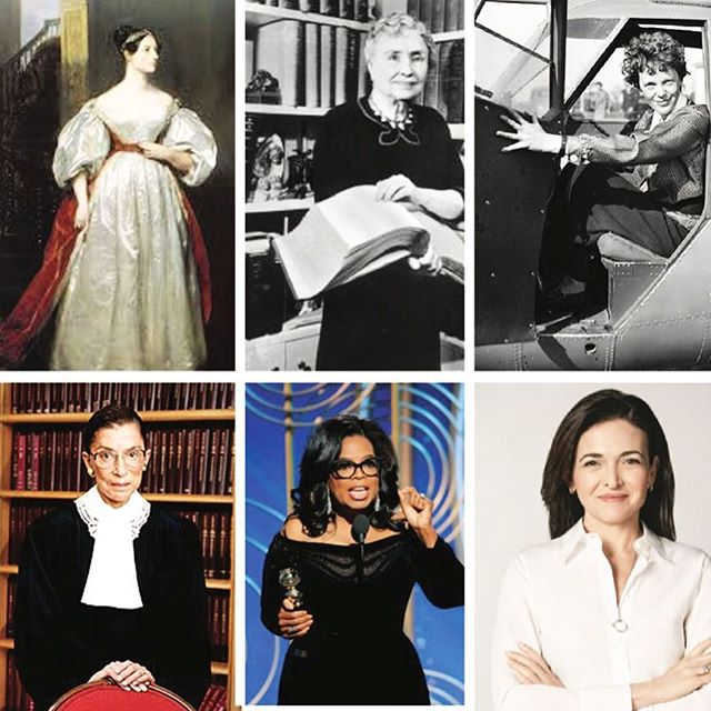 Here is just a glimpse of the many women we look up to at unspun, and our favorites are those around us! Happy international women's day to #adalovelace, #helenkeller, #ameliaearhart, #rbg, #oprah, #sherylsandberg, & of course the women who have helped make your lives special. Who inspires you?
