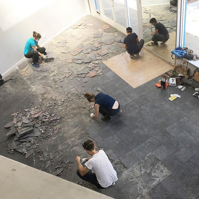 News flash! We are bringing the unspun experience to SF and can't wait to share it with all of you in about a month. In the meantime check out the grungy floor we're tearing up to prepare!