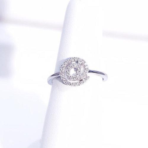 Diamond Symbol Ring 20 Carat Weight In 18k White Gold M B