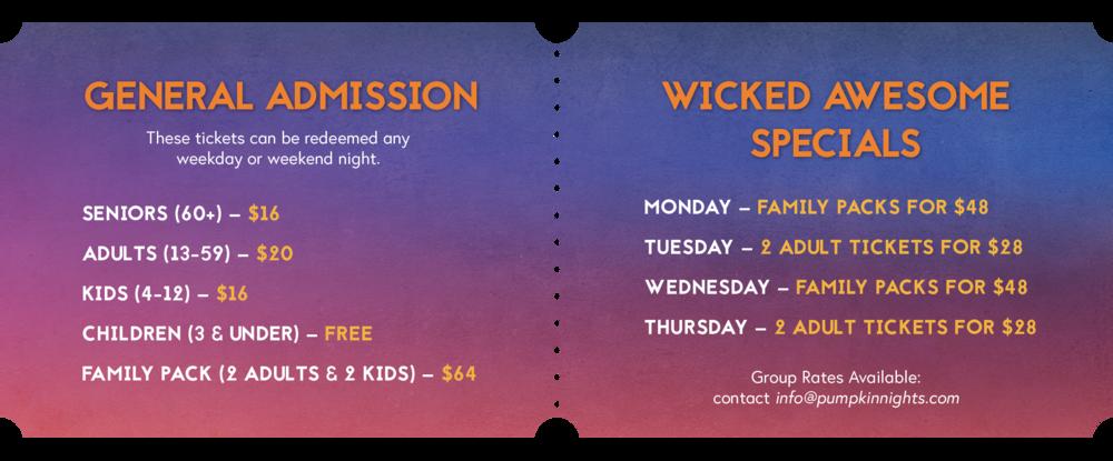 Tickets & Specials