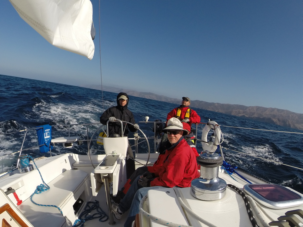 Reefed down on the way to Santa Barbara Island