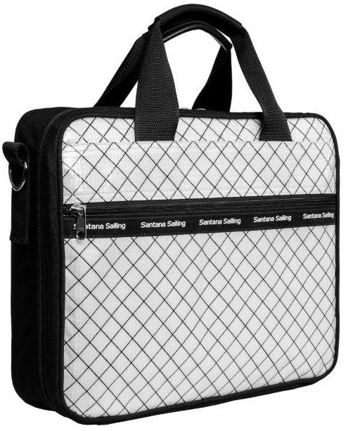 "Dimensions:  17"" x 14"" x 4""  Nickel hardware and padded shoulder strap included."