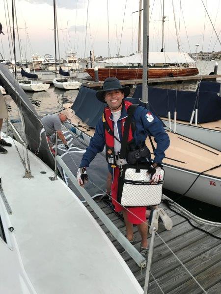 Rigo climbs aboard