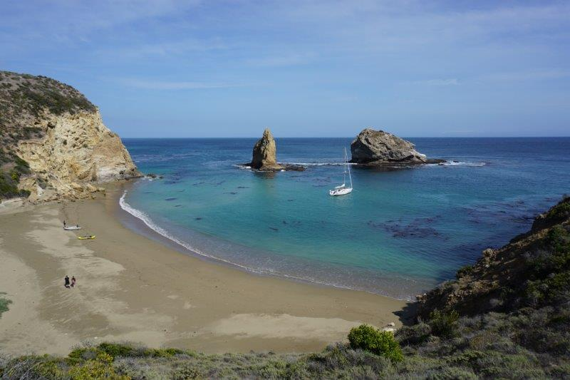 Willow Cove on Santa Cruz Island, one of California's Northern Channel Islands