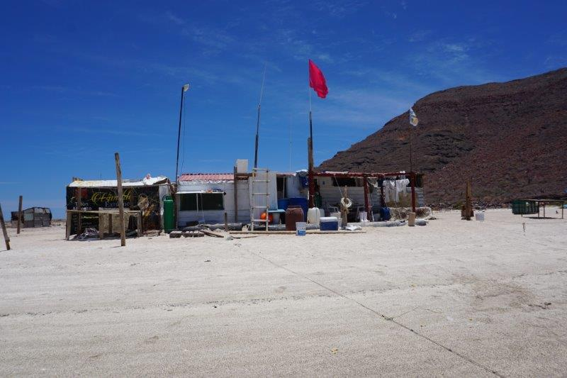 Fish camp at Caleta Partida