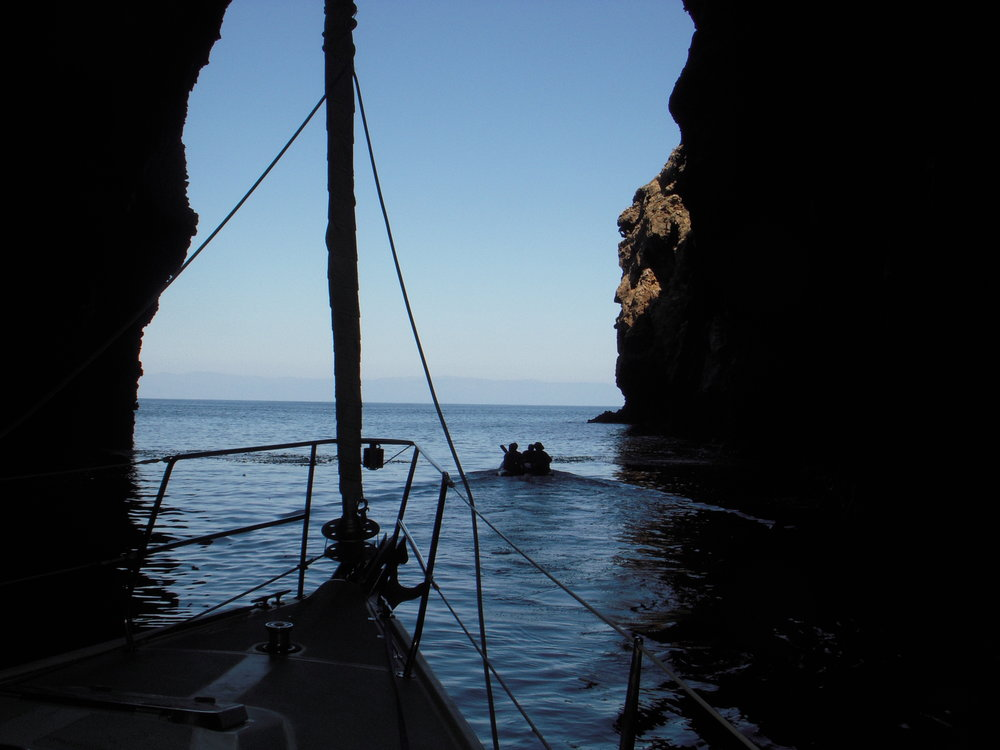 Inside the Painted Cave on the Catalina 42, Betty