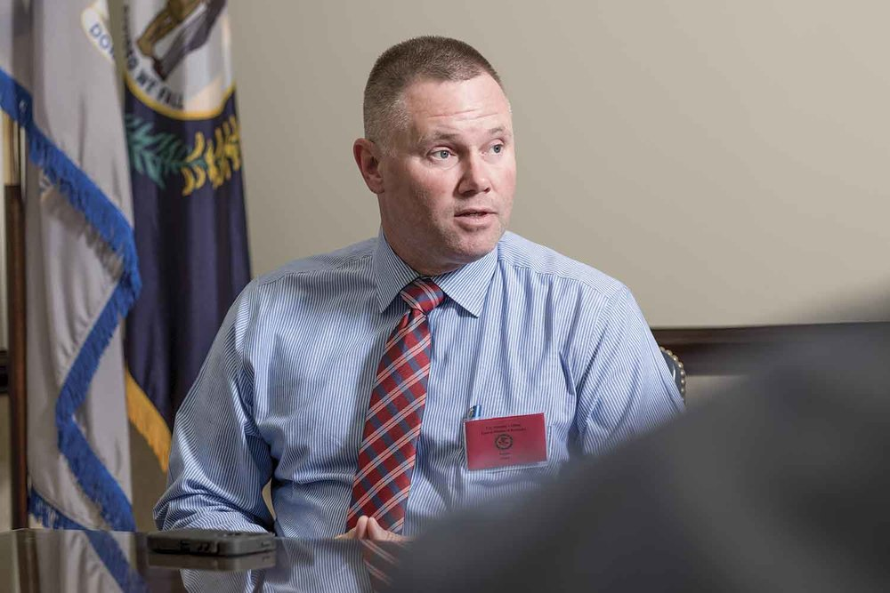 Versailles Police Officer Steve Sparkman said the key to successfully preparing an overdose case for federal prosecution is getting everyone on board from the local coroner and EMS personnel to fellow law enforcement officers. (Photo by Jim Robertson)